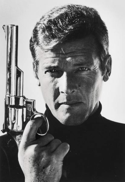 Roger Moore as James Bond by Terry O'Neill