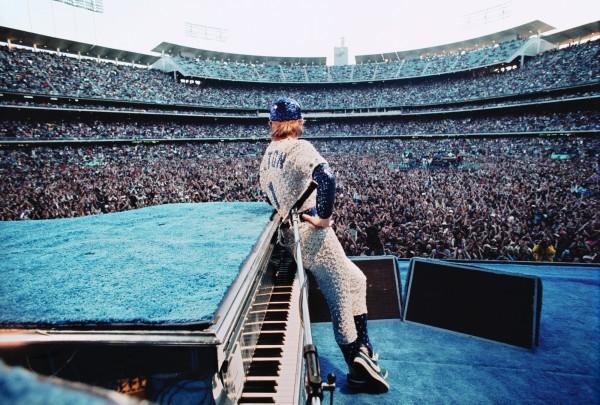 Elton John at Dodger Stadium by Terry O'Neill