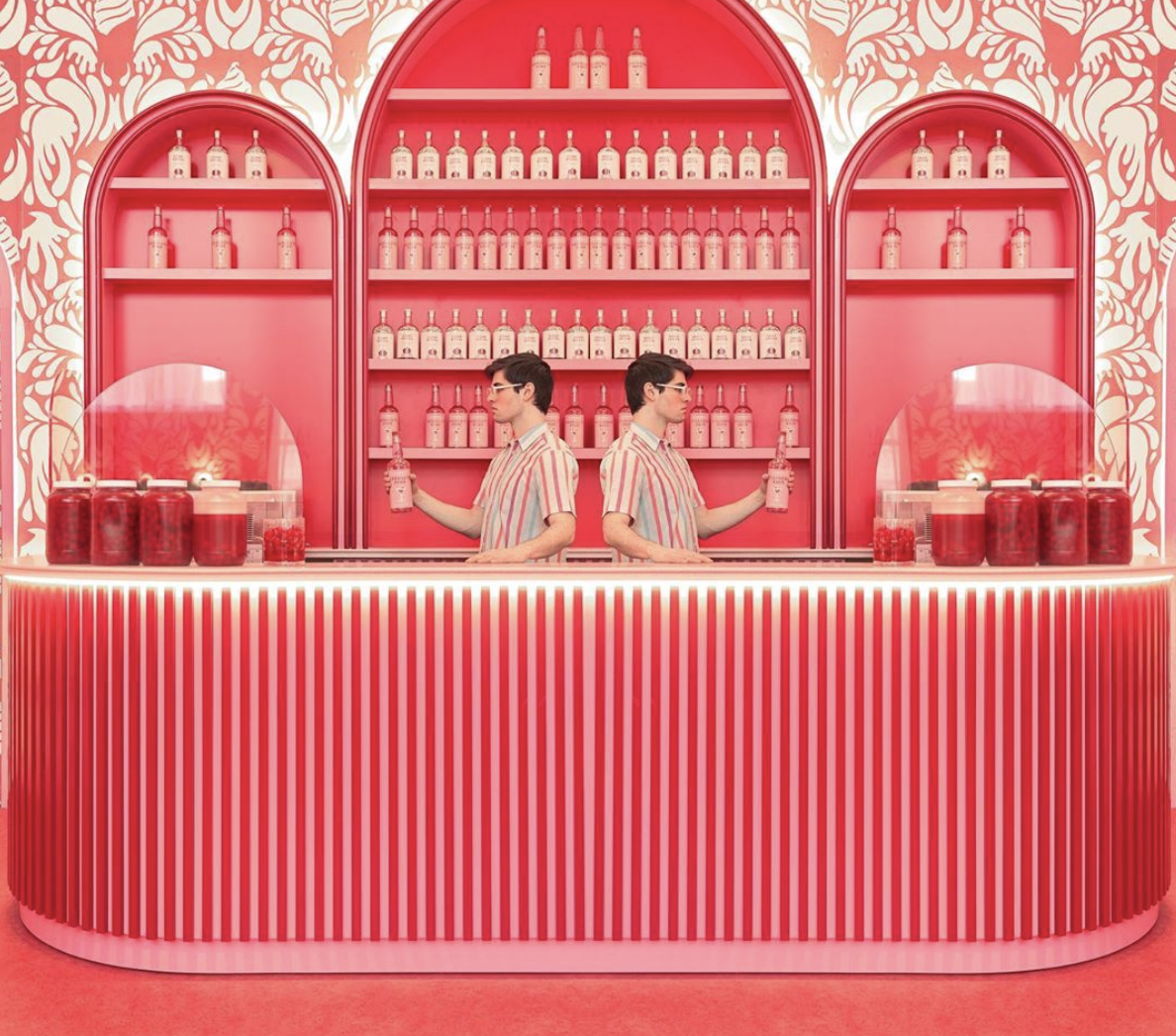Absolute Pink Bar by Maria Zvarbova