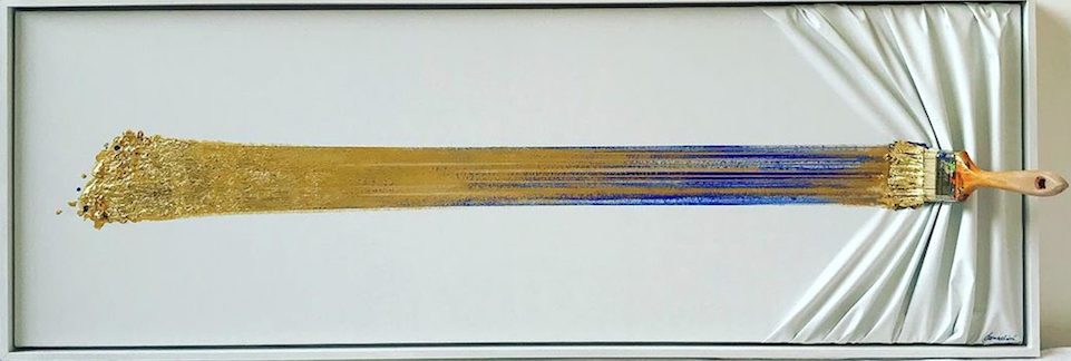 Brosse arrêtée gold and blue by Jean Paul Donadini