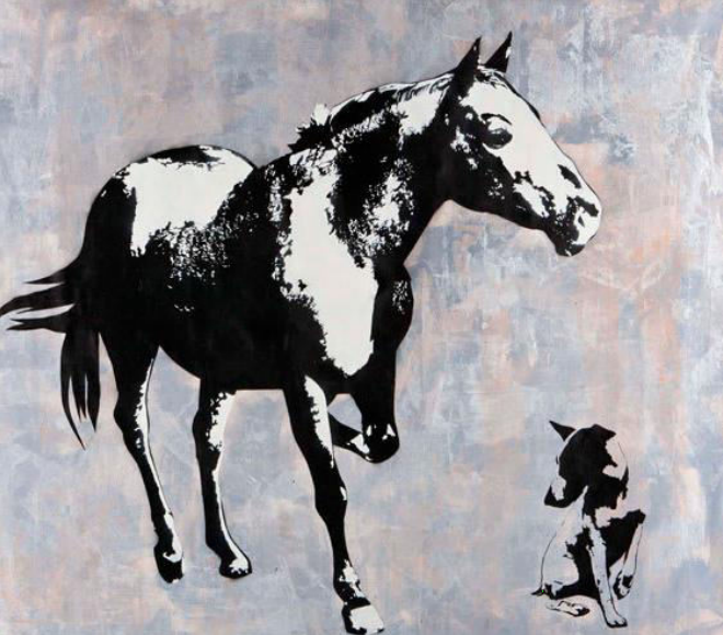 Dog and Pony Show by Blek Le Rat