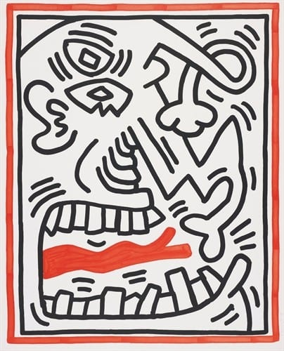 Three Lithographs (1) by Keith Haring