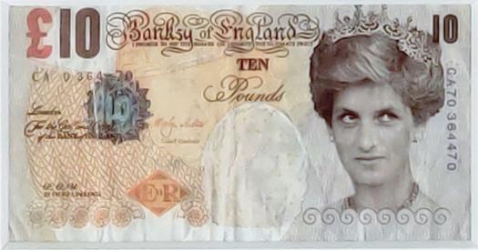 Di-Faced Tenner (Princess Diana) By Banksy