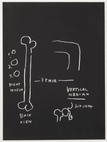 Femur by Jean-Michel Basquiat