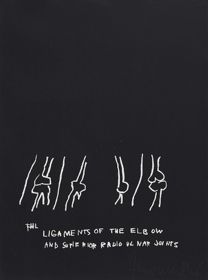 Ligaments Of The Elbow by Jean-Michel Basquiat
