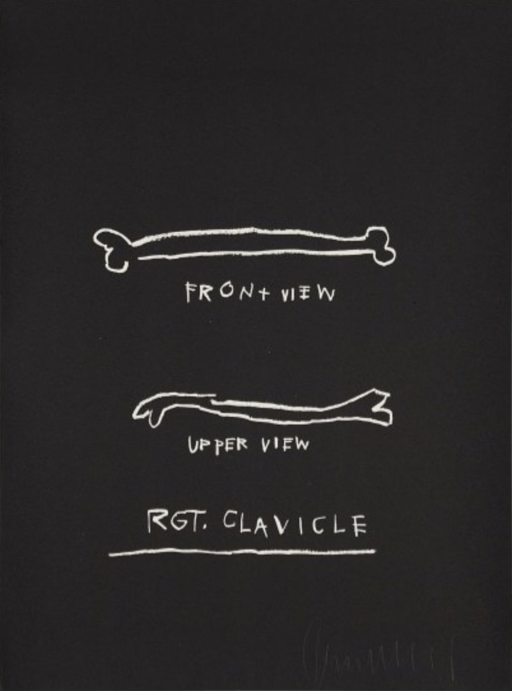 Right Clavicle by Jean-Michel Basquiat