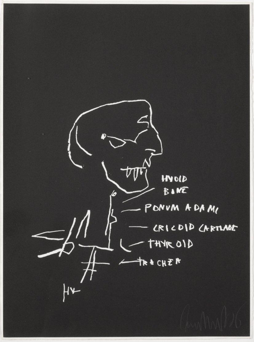Thyroid by Jean-Michel Basquiat