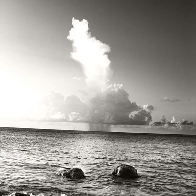 Two Large Distinctive Rocks on Necker Island by Russell James