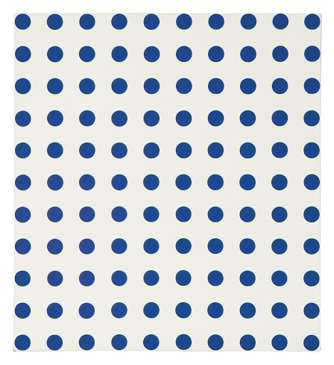 Acetic Anhydride (Blue Dots) by Damien Hirst