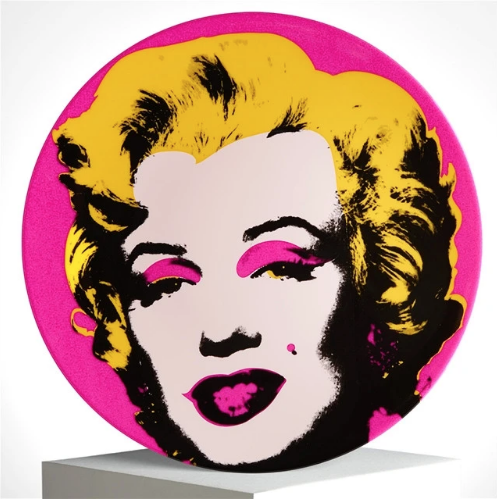 Andy Warhol Marilyn Plate (Pink)