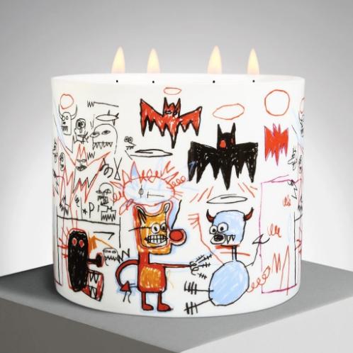 Jean-Michel Basquiat Batman Candle