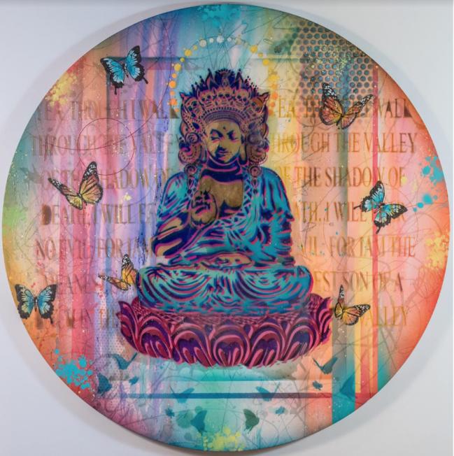 Buddha & Monarchs by RISK