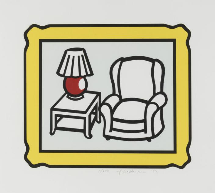 Roy Lichtenstein Red Lamp C. 279
