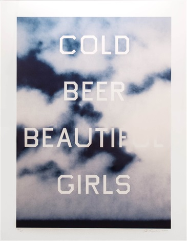 Cold Beer Beautiful Girls By Ed Ruscha