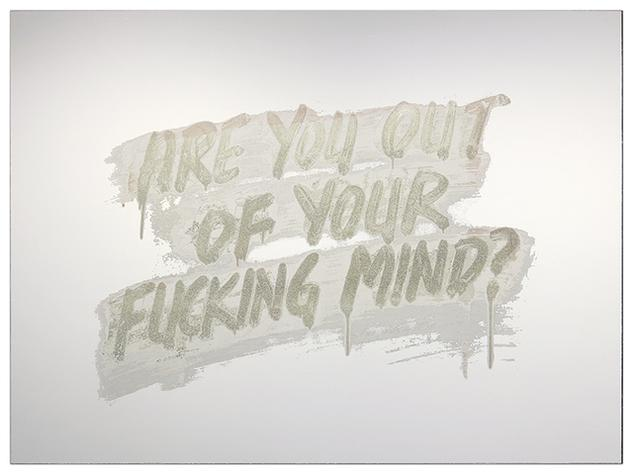 Are You Out of Your Fucking Mind by Mel Bochner