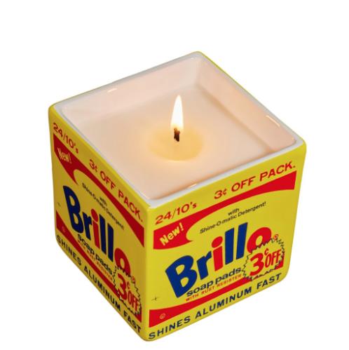 Andy Warhol Brillo Box Candle (Yellow)