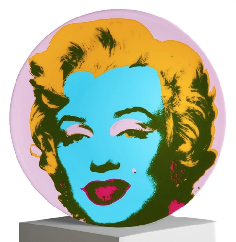 Andy Warhol Marilyn Plate (Purple)