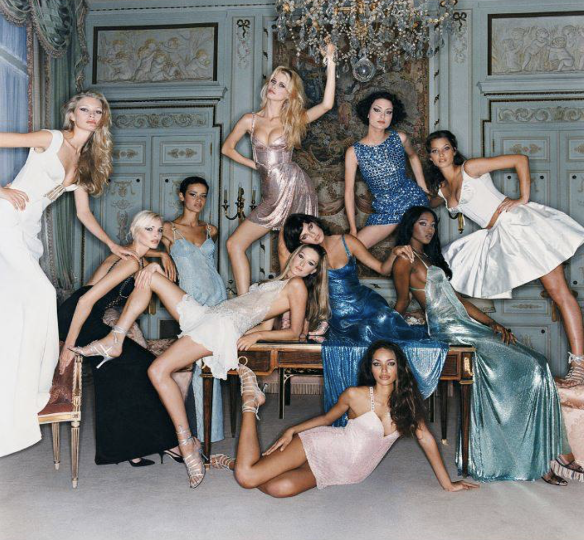 Supermodels by Michel Comte
