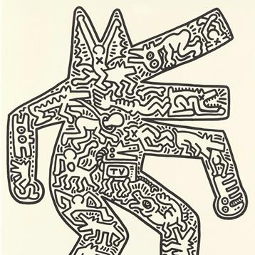 Dancing Dog by Keith Haring