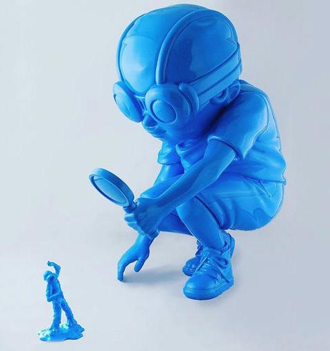 """Flyboy """"Fry"""" Blue by Hebru Brantley"""