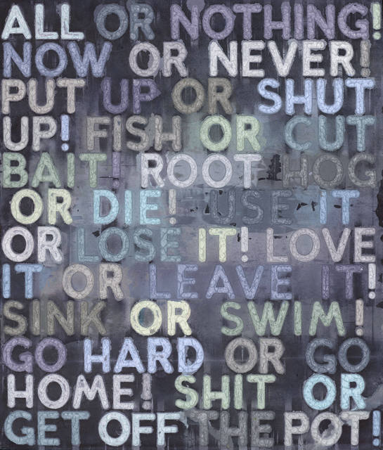 All or Nothing by Mel Bochner