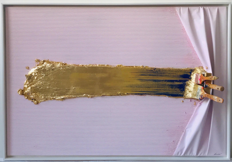 Trowel Arrêtée Gold and Blue by Jean-Paul Donadini