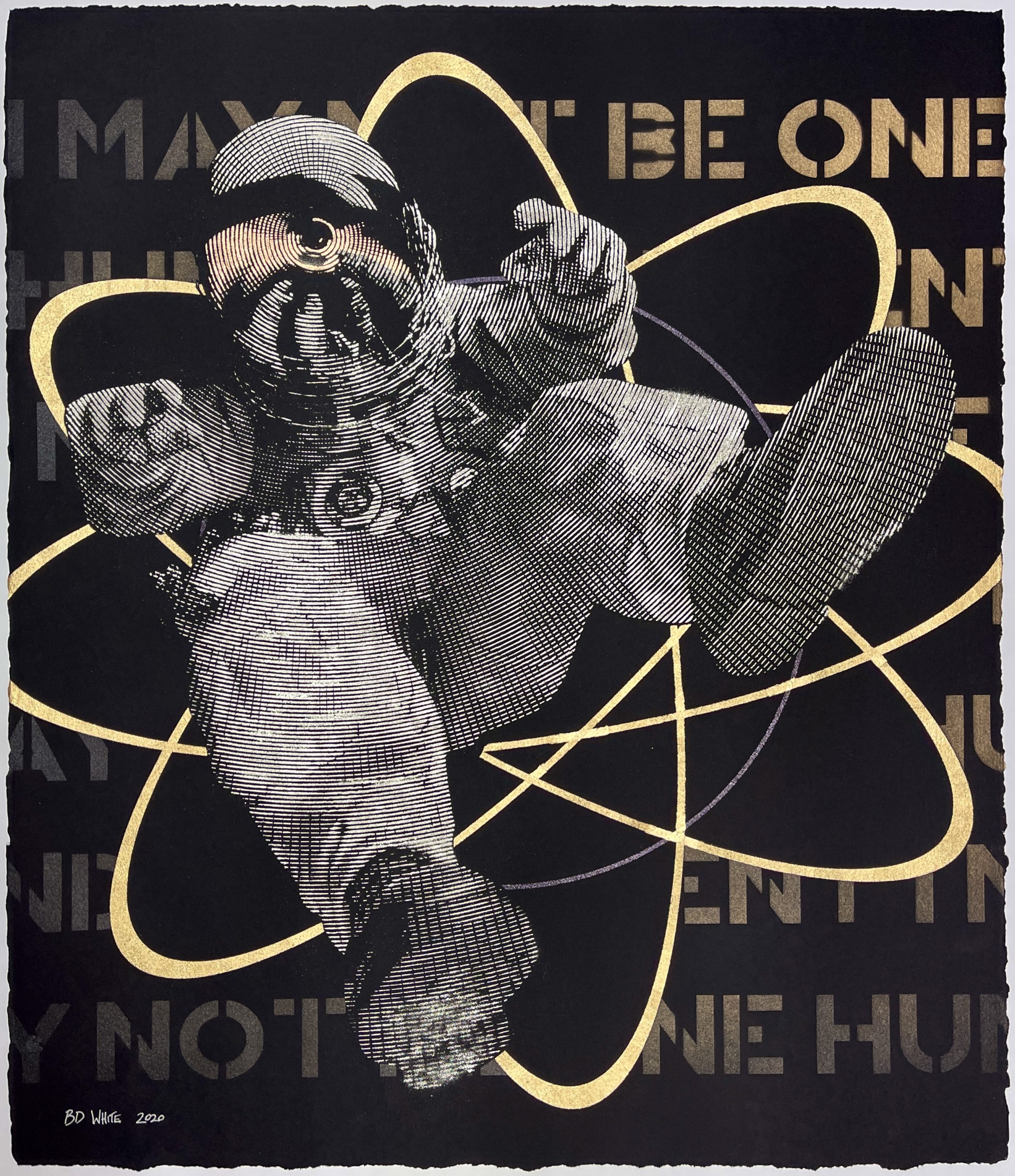 I May Not Be One Hundred Percent (White Gold Leaf Atom) by B.D. White