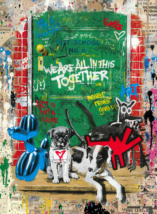Artists' Best Friend (Rug Center) by Mr Brainwash