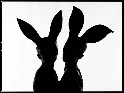 Bunnies Silhouette by Tyler Shields