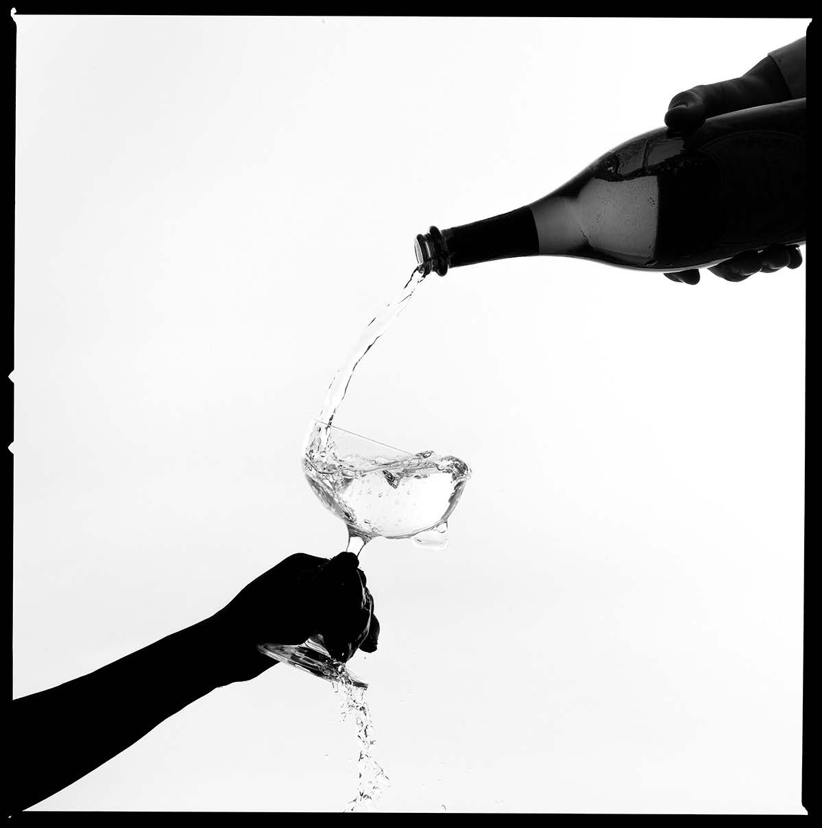 Champagne Silhouette by Tyler Shields