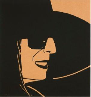 Large Black Hat Ada by Alex Katz