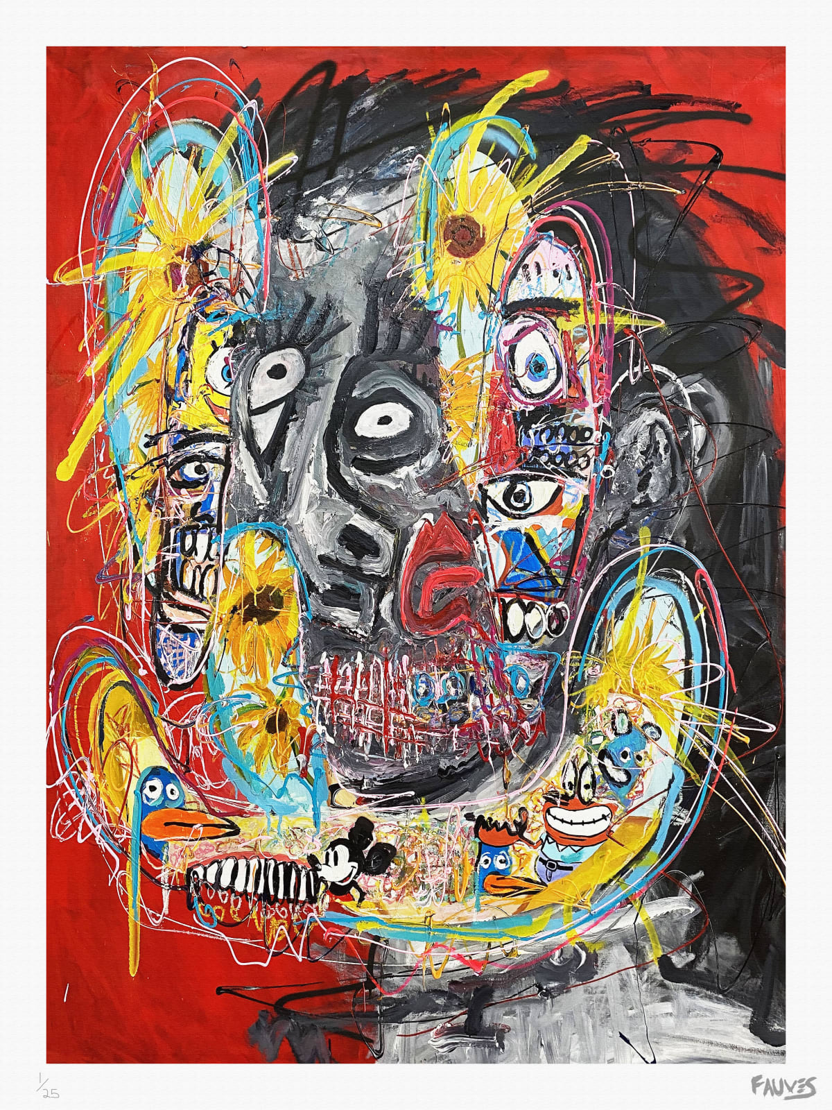 Portrait of the Soul (Red) (On Paper) by John Paul Fauves