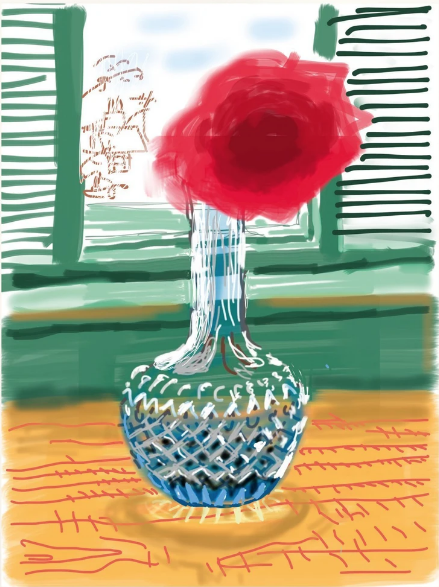 iPad Drawing No. 281 by David Hockney