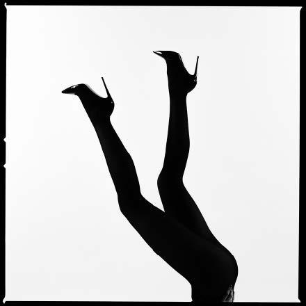 Legs Up Silhouette by Tyler Shields