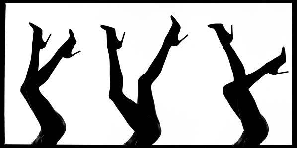 Legs Silhouette by Tyler Shields