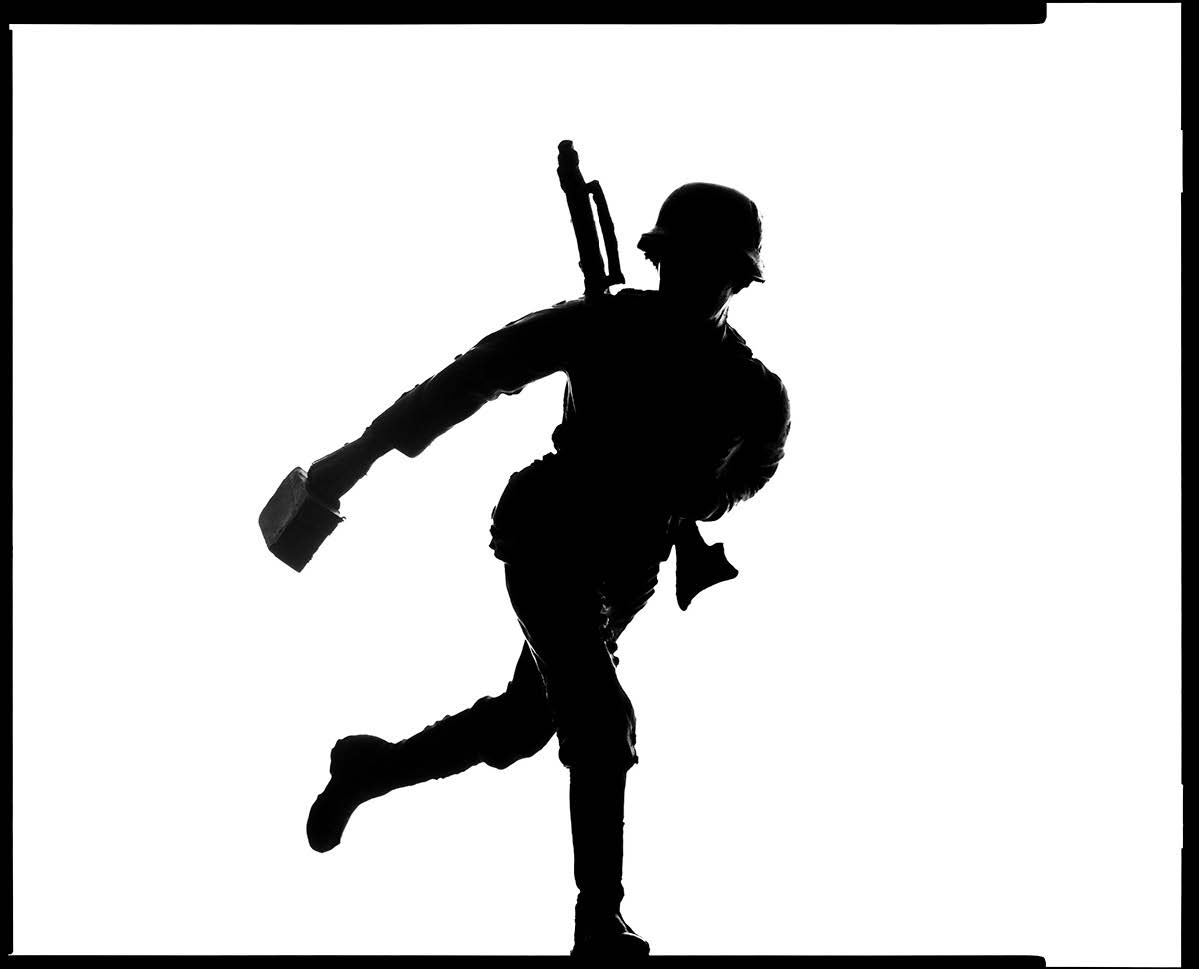 Soldier Silhouette by Tyler Shields