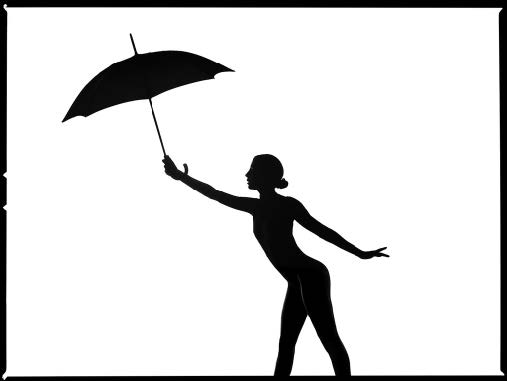 Umbrella Silhouette by Tyler Shields