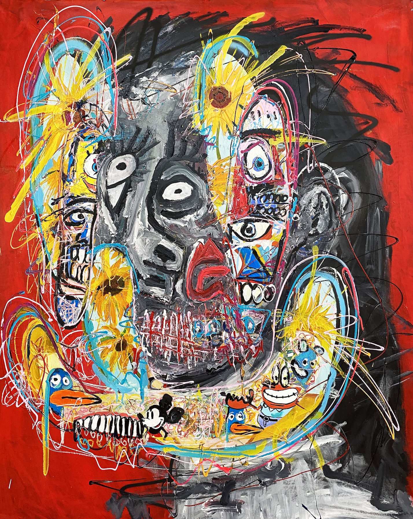 Portrait of the Soul Red by John Paul Fauves