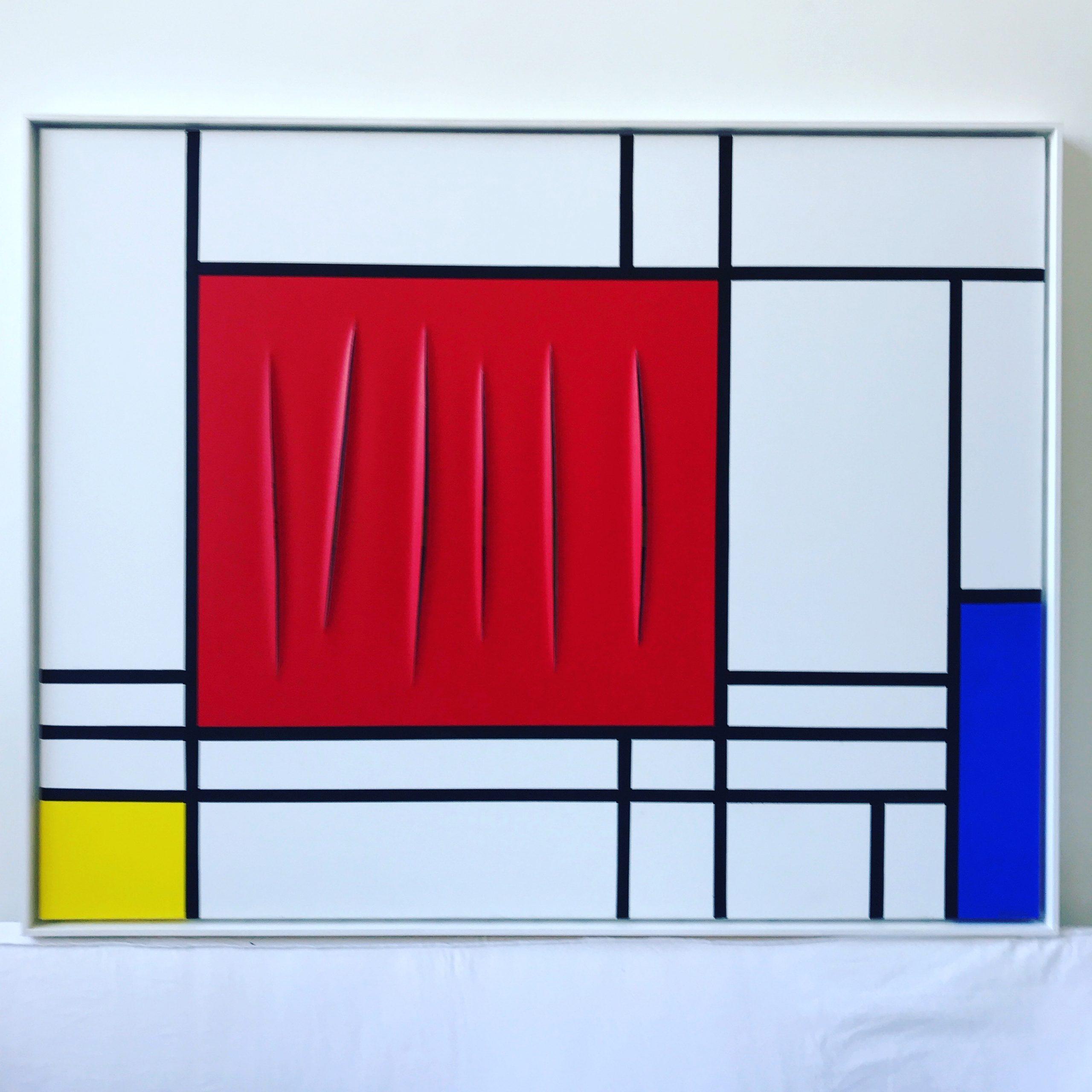 Mondrian meets Fontana by Jean-Paul Donadini