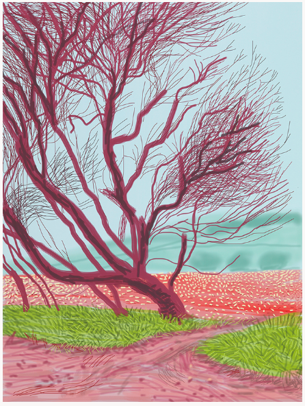 12th April, From The Arrival Of Spring In Woldgate, East Yorkshire, 2011 by David Hockney