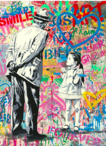 Caught Blue Handed by Mr. Brainwash
