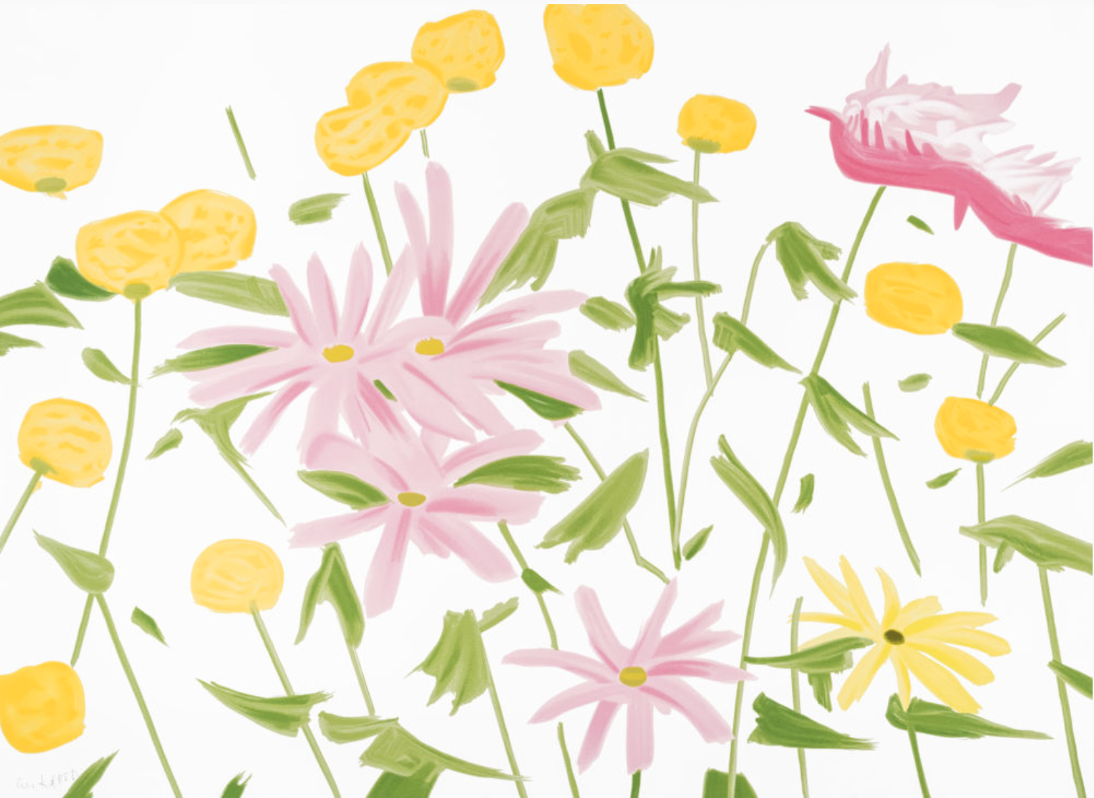 Spring Flowers by Alex Katz