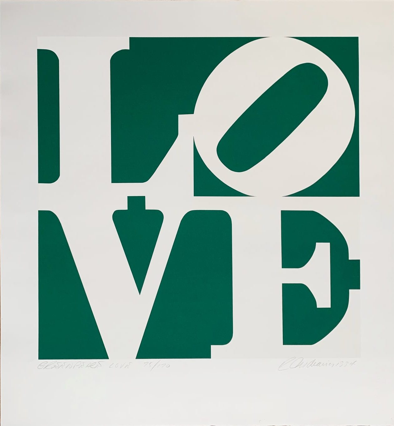 Greenpeace Love By Robert Indiana
