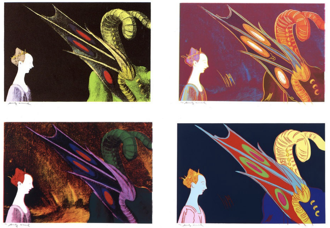 Details of Renaissance Paintings by Andy Warhol