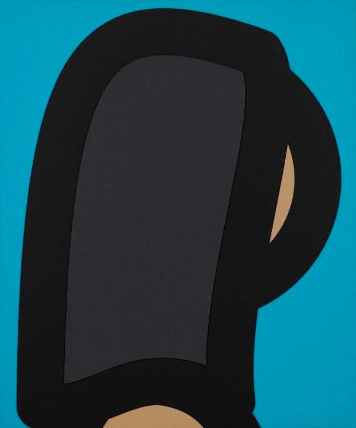 Paper Head 2 by Julian Opie