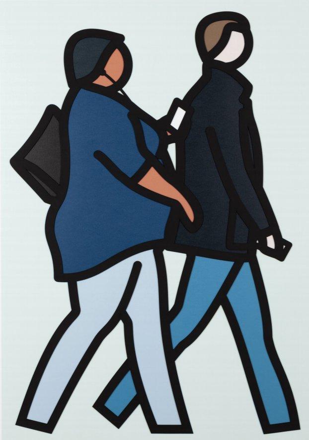 New York Couple 2 by Julian Opie