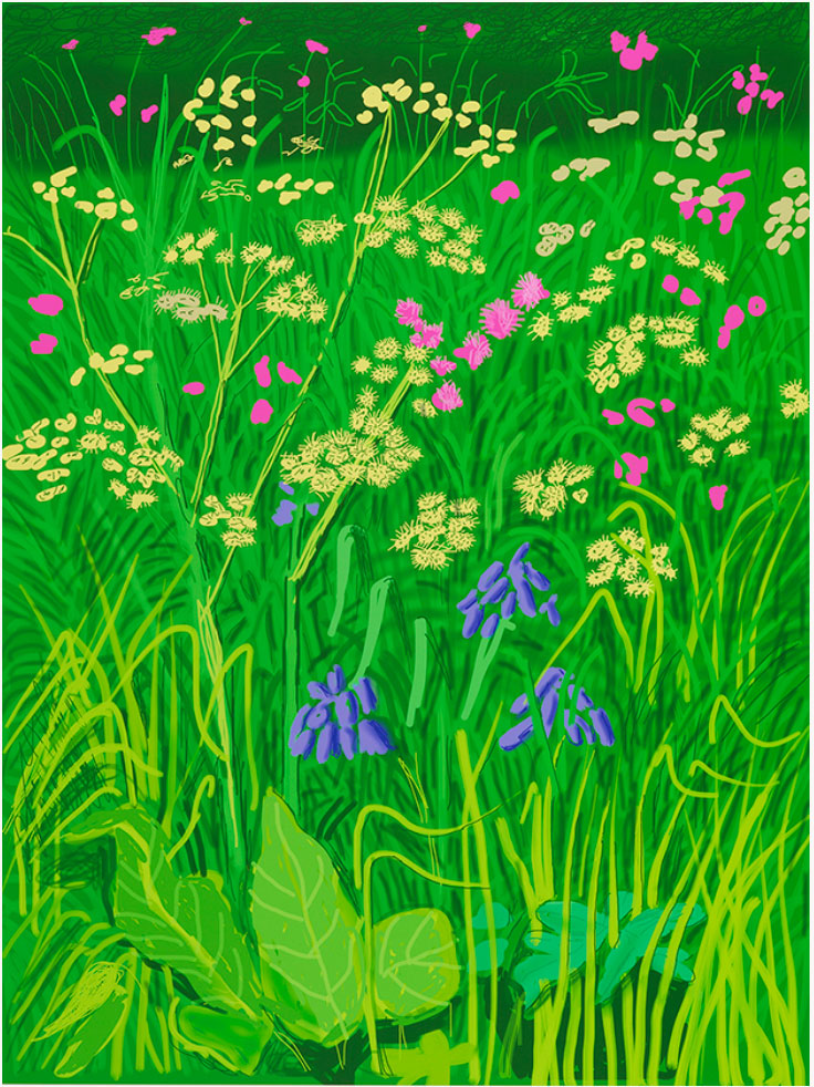 17th of May From 'The Arrival of Spring in Woldgate, East Yorkshire by David Hockney