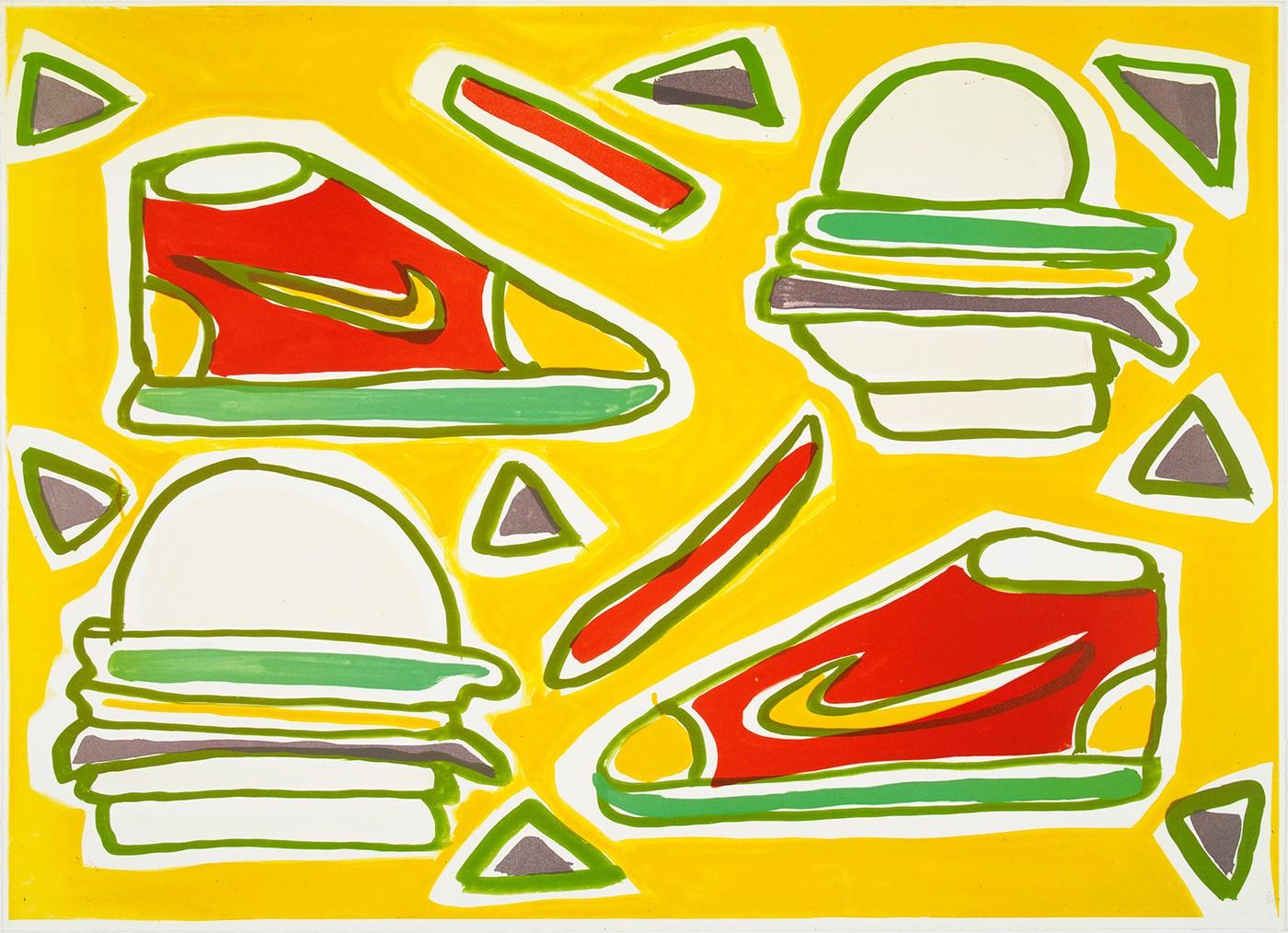Cheeseburger Deluxe by Katherine Bernhardt