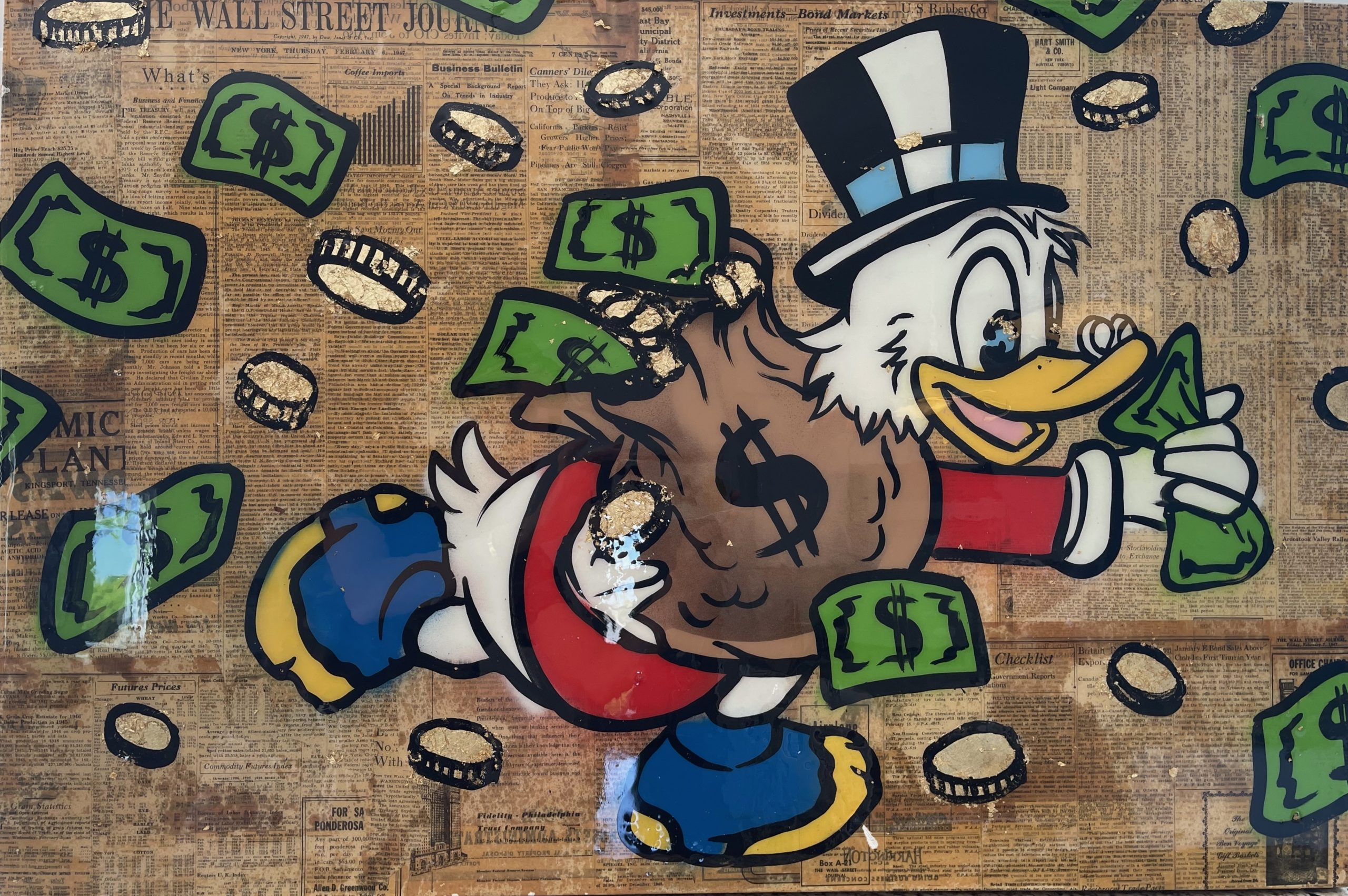 Scrooge Moneybags by Alec Monopoly