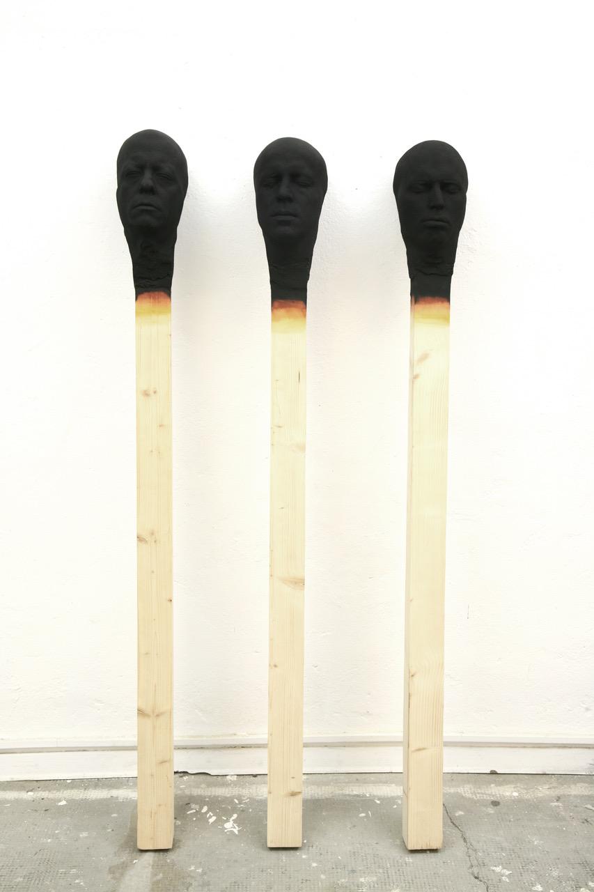 Matchstick Men Group of 3 by Wolfgang Stiller